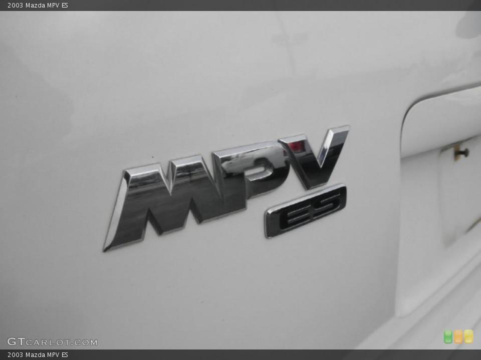 2003 Mazda MPV Badges and Logos