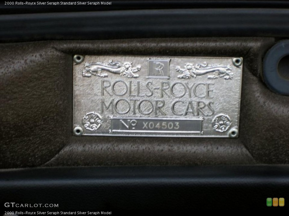 2000 Rolls-Royce Silver Seraph Badges and Logos