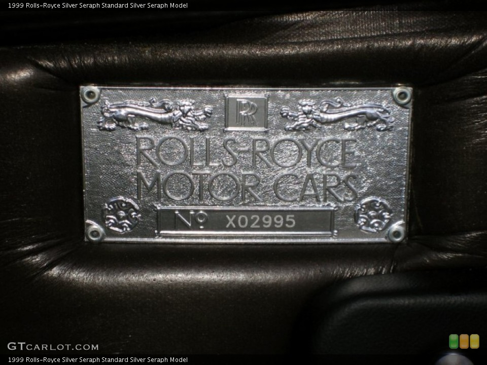 1999 Rolls-Royce Silver Seraph Badges and Logos