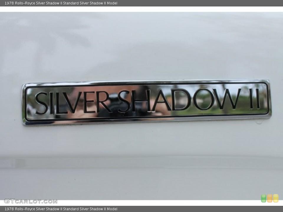 1978 Rolls-Royce Silver Shadow II Badges and Logos
