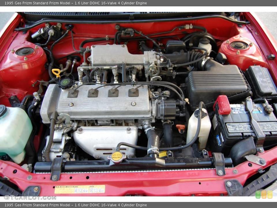 1.6 Liter DOHC 16-Valve 4 Cylinder 1995 Geo Prizm Engine