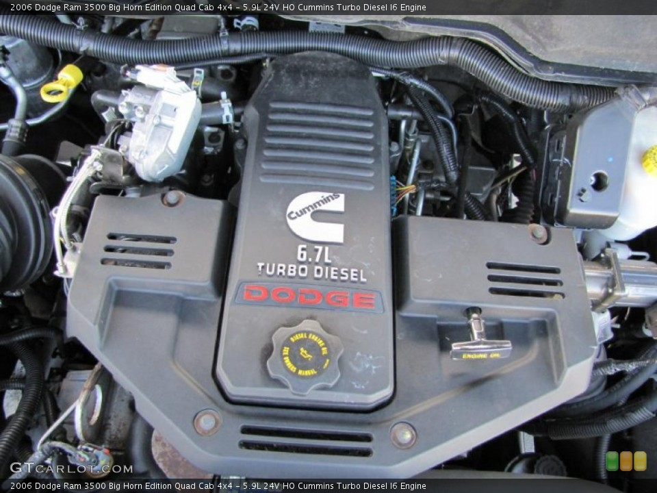 5.9L 24V HO Cummins Turbo Diesel I6 2006 Dodge Ram 3500 Engine