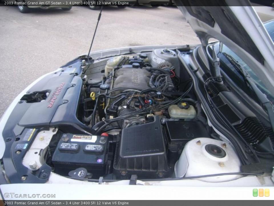 34 Liter    3400    SFI 12 Valve    V6    Engine for the 2003 Pontiac