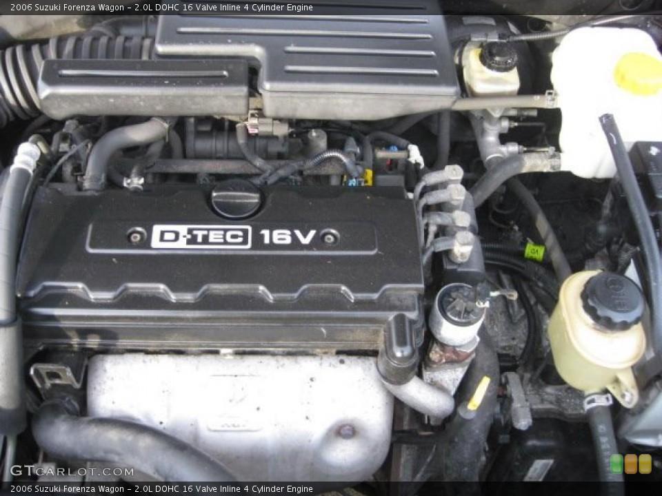 2.0L DOHC 16 Valve Inline 4 Cylinder Engine for the 2006 Suzuki Forenza #41129439