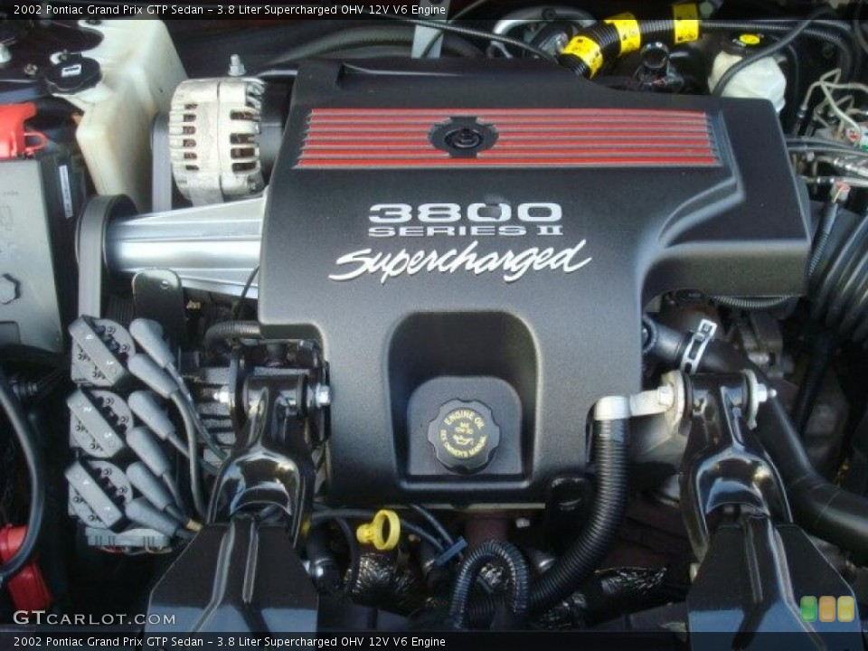 3.8 Liter Supercharged OHV 12V V6 2002 Pontiac Grand Prix Engine ...
