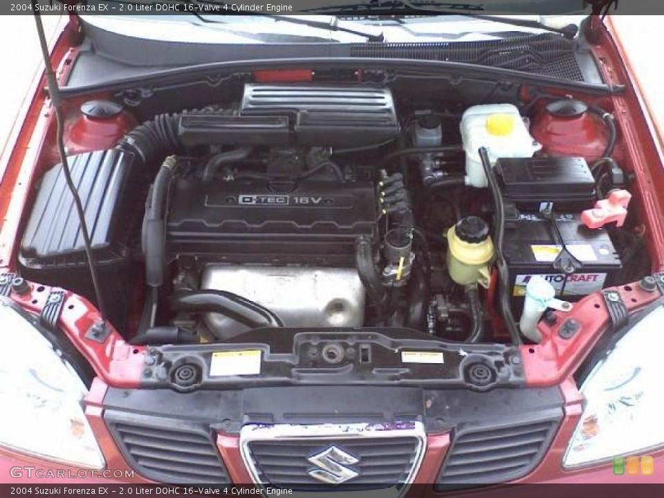 2.0 Liter DOHC 16-Valve 4 Cylinder 2004 Suzuki Forenza Engine