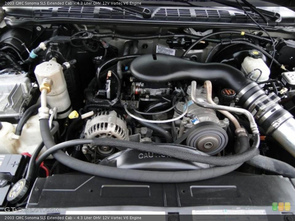 4.3 Liter OHV 12V Vortec V6 Engine for the 2003 GMC Sonoma ...