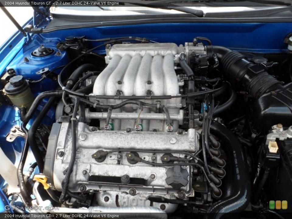 2 7 liter dohc 24 valve v6 engine for the 2004 hyundai tiburon 50509228 gtcarlot com gtcarlot com