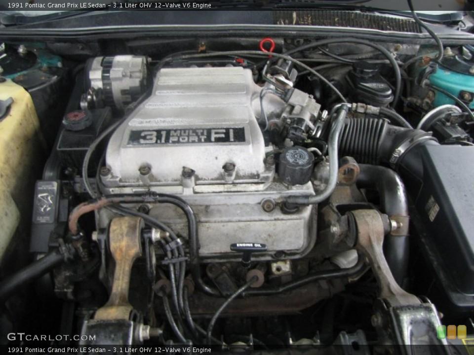 3 1 liter ohv 12 valve v6 1991 pontiac grand prix engine gtcarlot com gtcarlot com