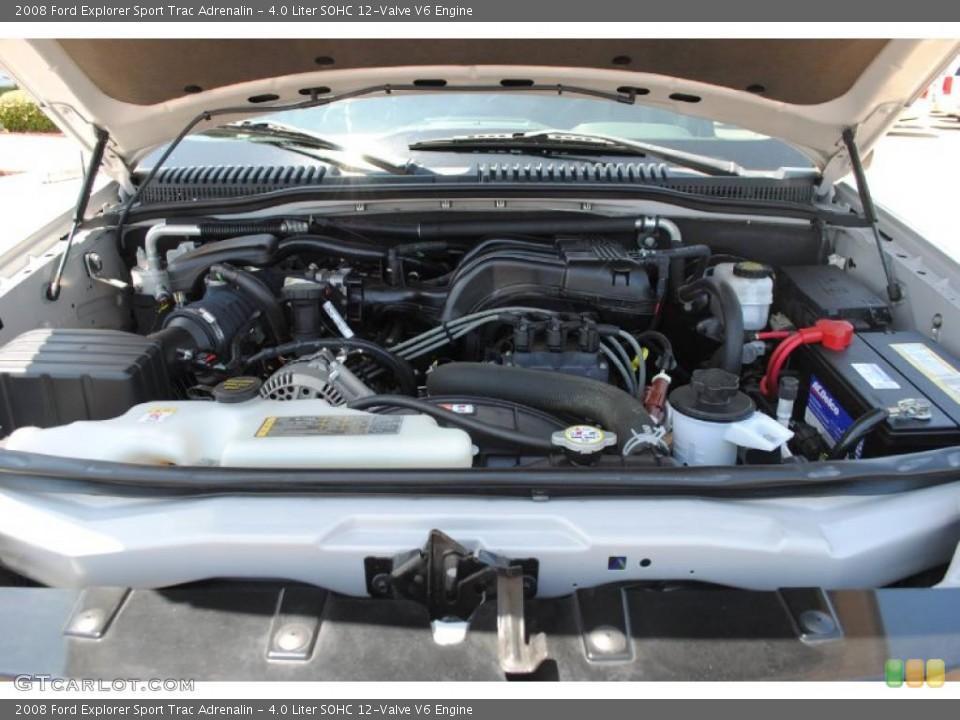 4.0 Liter SOHC 12-Valve V6 2008 Ford Explorer Sport Trac Engine