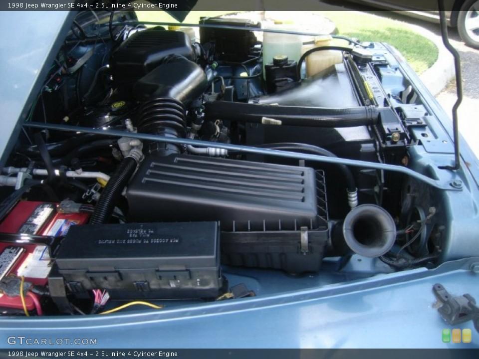 25L Inline 4 Cylinder 1998 Jeep Wrangler Engine  GTCarLotcom