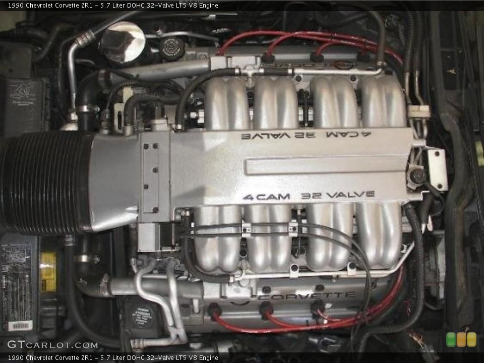 similiar 5 7 motor keywords liter dohc 32 valve lt5 v8 engine on the 1990 chevrolet corvette