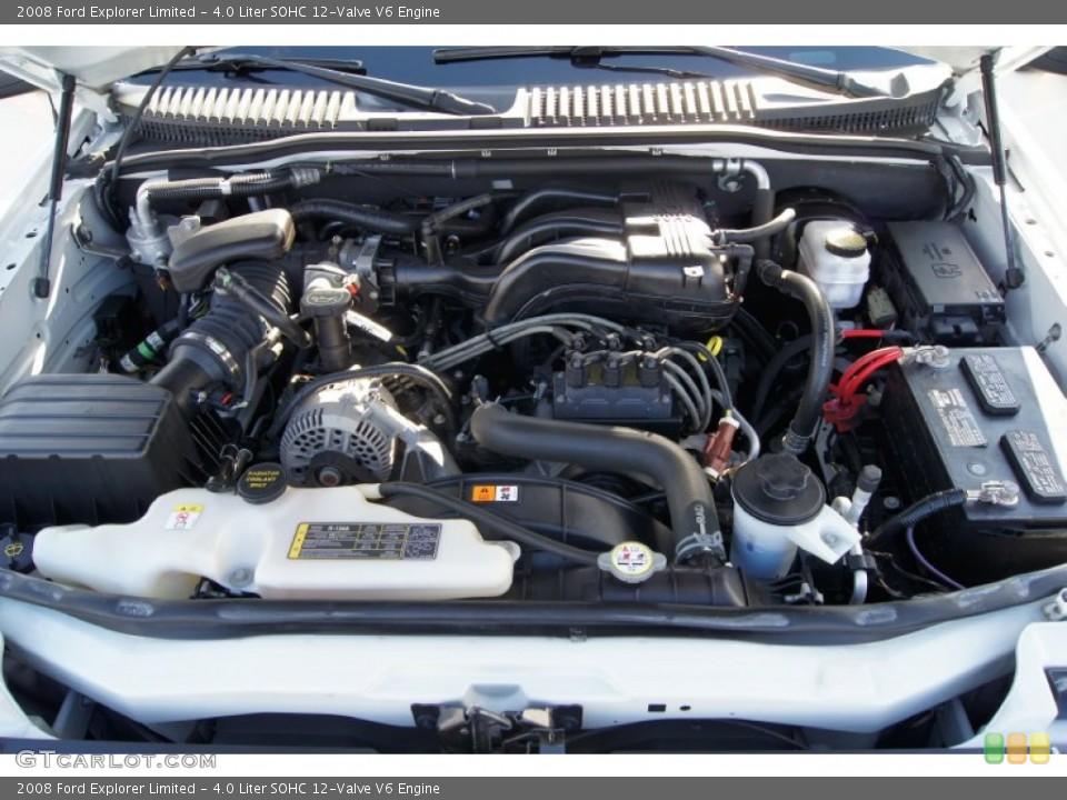 4.0 Liter SOHC 12-Valve V6 Engine for the 2008 Ford Explorer #57201322