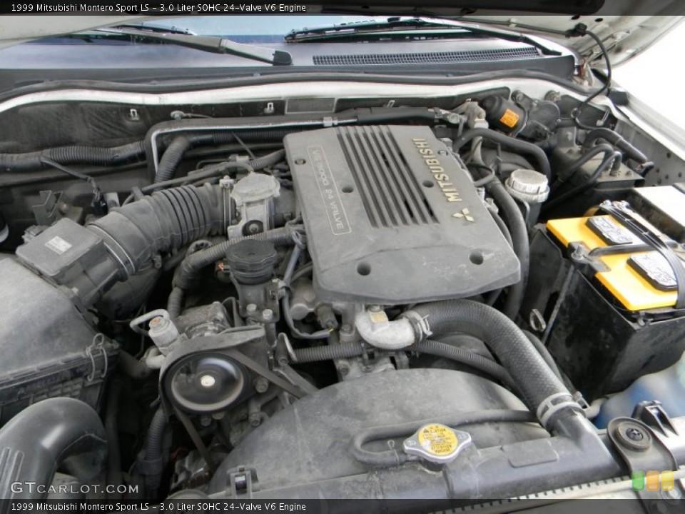 3.0 Liter SOHC 24-Valve V6 1999 Mitsubishi Montero Sport Engine ...