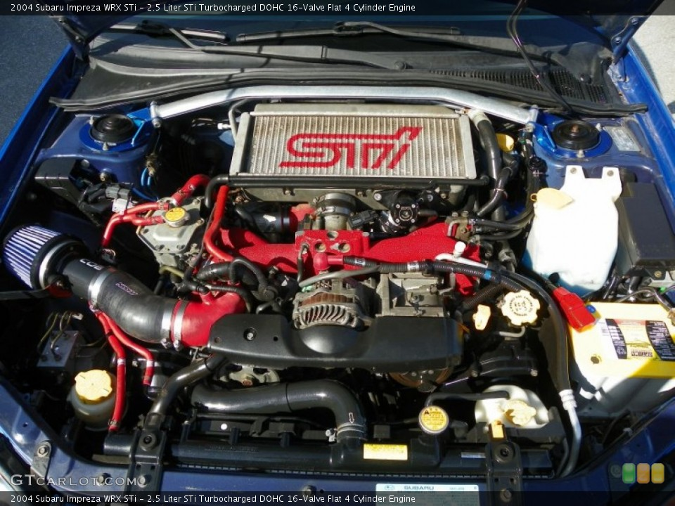 2.5 Liter STi Turbocharged DOHC 16-Valve Flat 4 Cylinder Engine for the 2004 Subaru Impreza #63844692