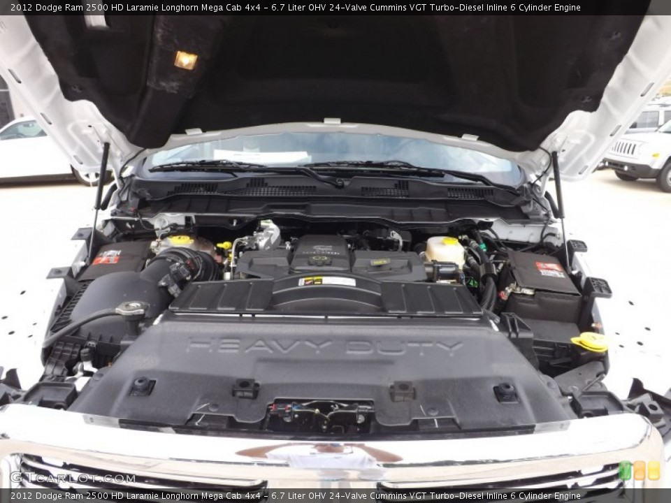 Diesel Inline 6 Cylinder Engine on the 2012 Dodge Ram 2500 HD Big Horn