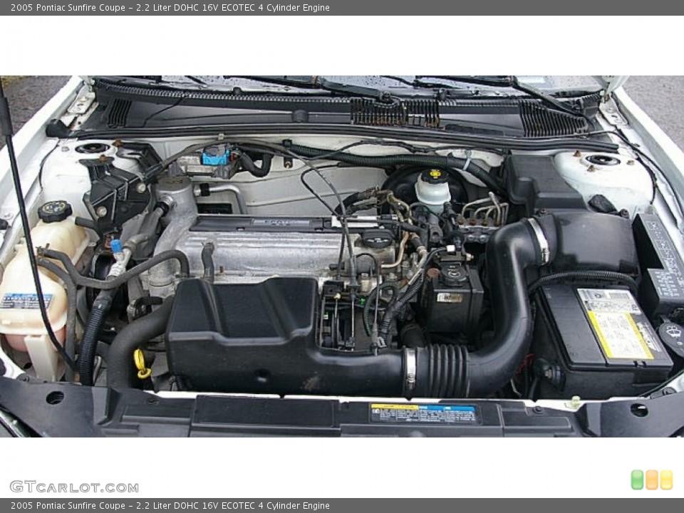2.2 Liter DOHC 16V ECOTEC 4 Cylinder 2005 Pontiac Sunfire Engine