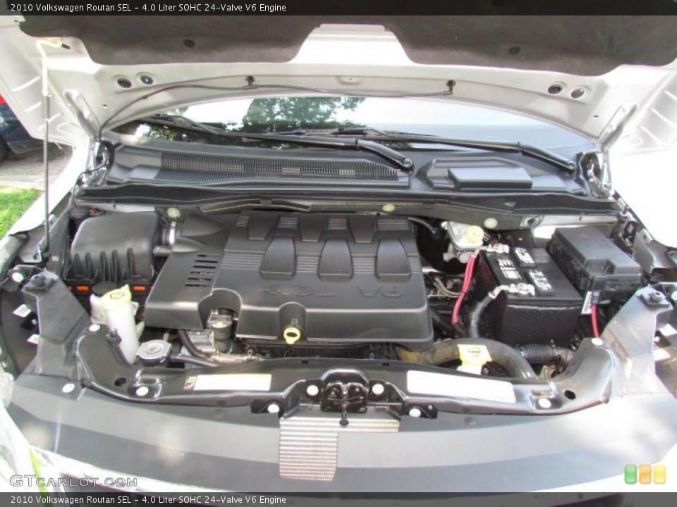4.0 Liter SOHC 24-Valve V6 Engine for the 2010 Volkswagen ...