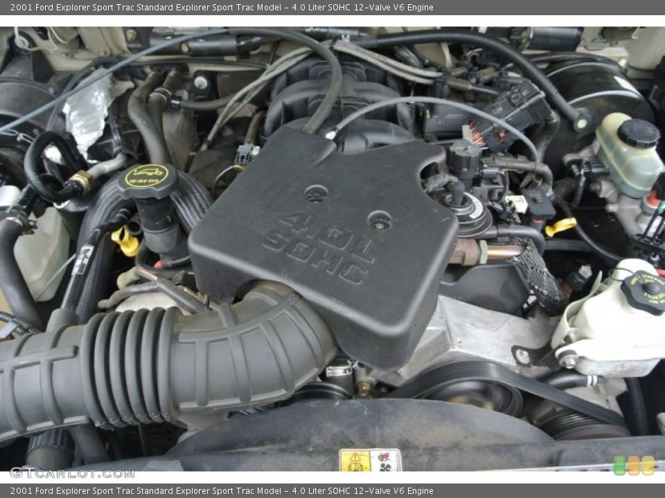 4.0 Liter SOHC 12-Valve V6 2001 Ford Explorer Sport Trac ...