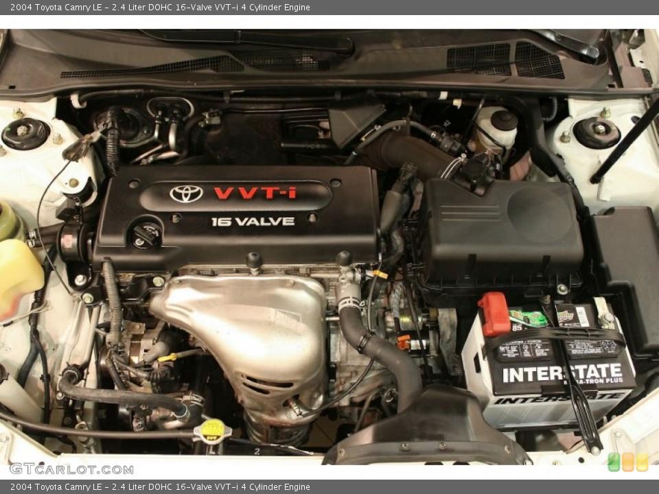 2.4 Liter DOHC 16-Valve VVT-i 4 Cylinder 2004 Toyota Camry Engine