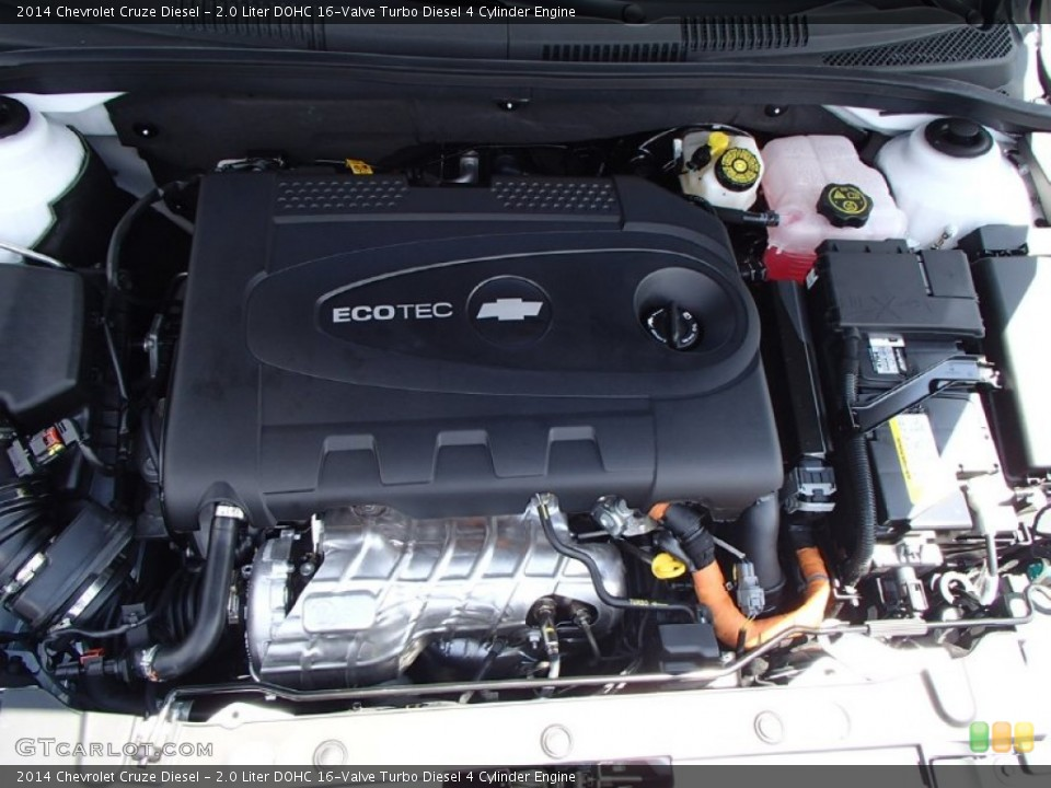 Turbo Diesel 4 Cylinder Engine on the 2014 Chevrolet Cruze Diesel