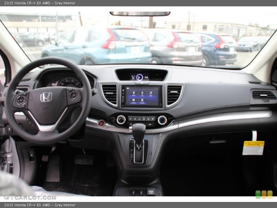 Gray Interior Dashboard for the 2015 Honda CR-V EX AWD #100085599