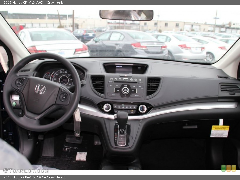 Gray Interior Dashboard for the 2015 Honda CR-V LX AWD #100086010