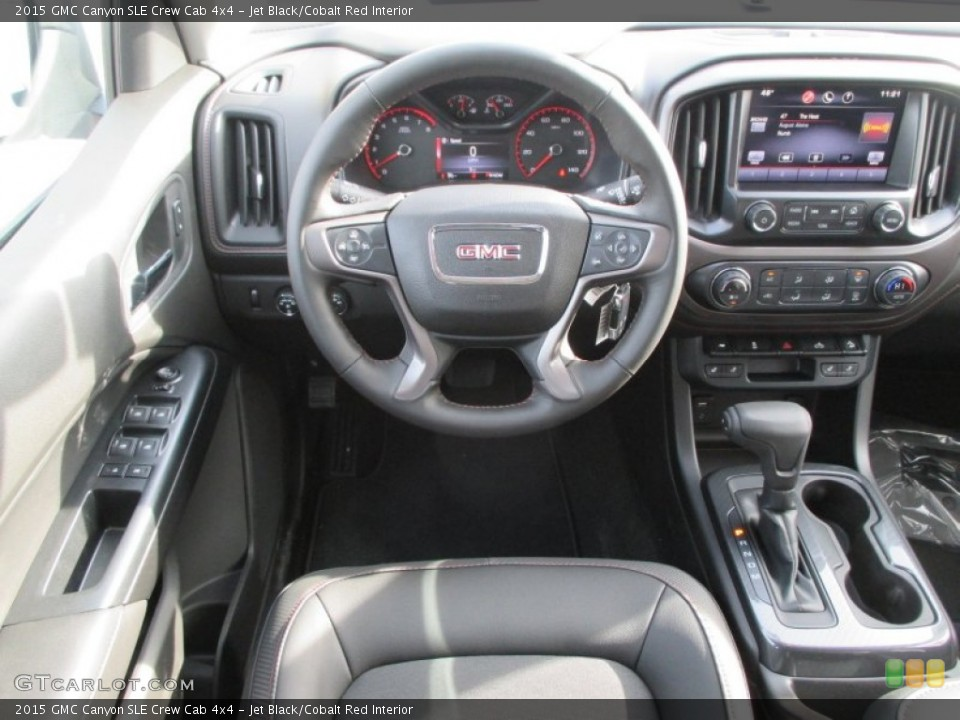 Jet Black/Cobalt Red Interior Dashboard for the 2015 GMC Canyon SLE Crew Cab 4x4 #100141032