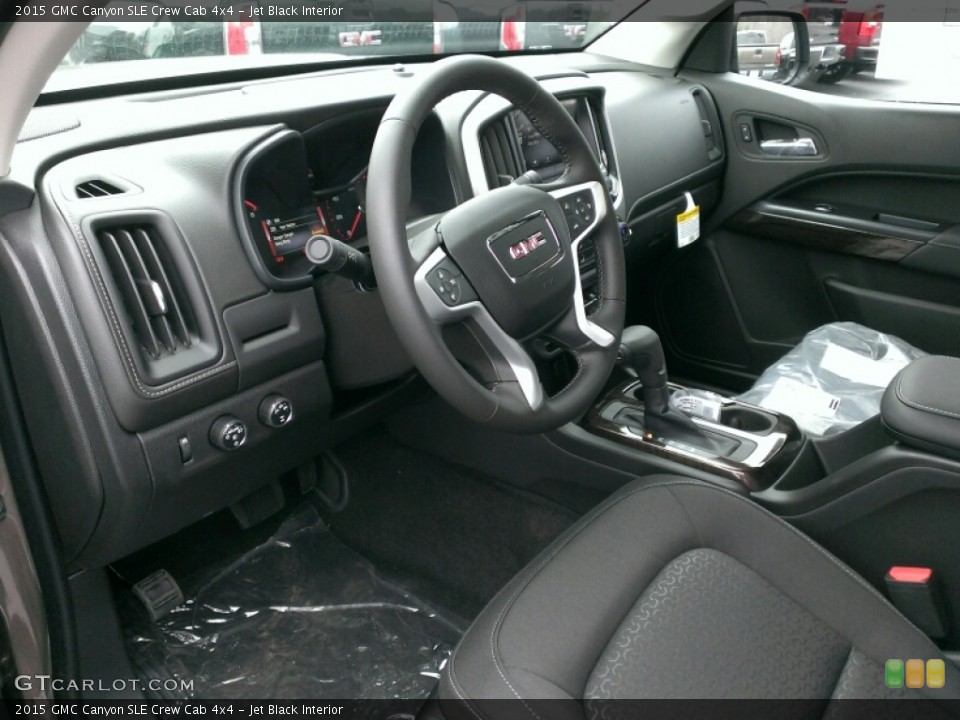 Jet Black Interior Photo for the 2015 GMC Canyon SLE Crew Cab 4x4 #100704458