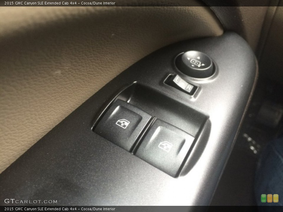Cocoa/Dune Interior Controls for the 2015 GMC Canyon SLE Extended Cab 4x4 #101280655