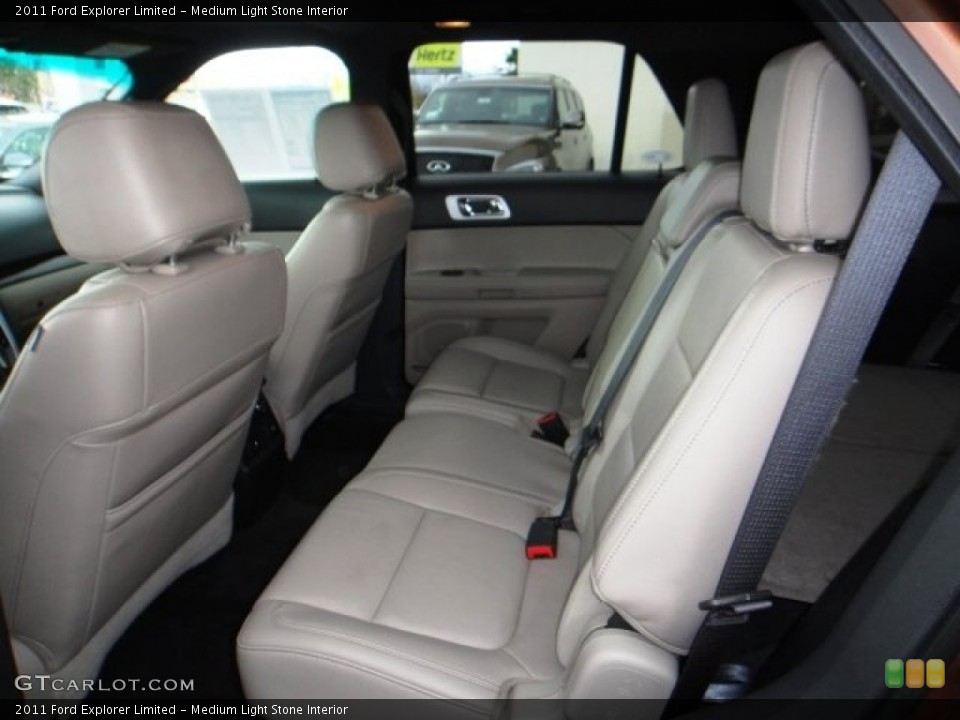 Medium Light Stone Interior Rear Seat for the 2011 Ford Explorer Limited #101361624