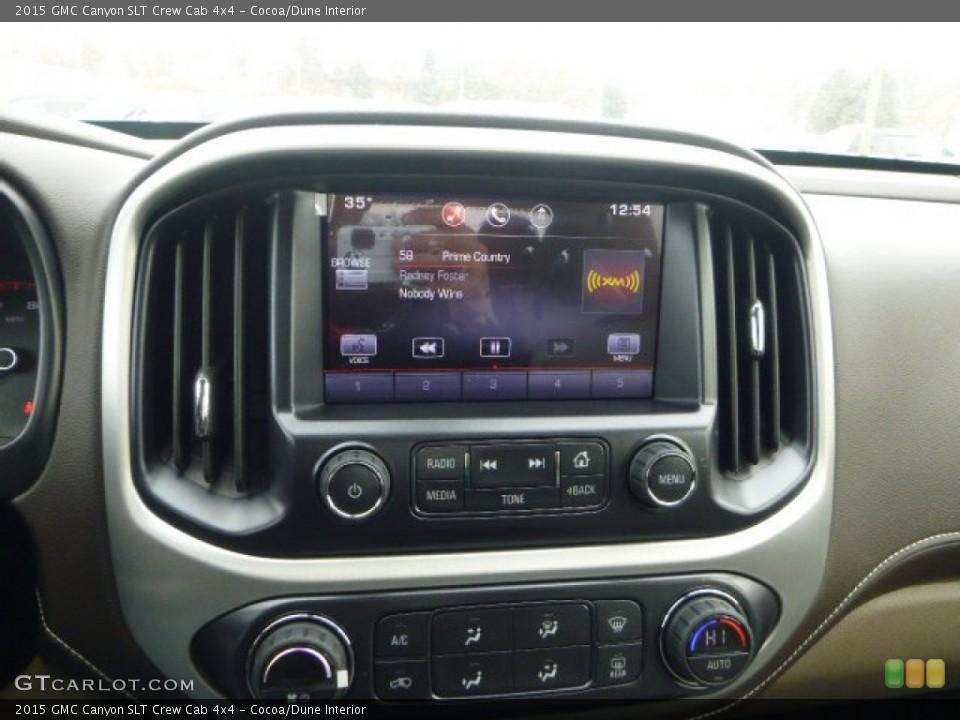 Cocoa/Dune Interior Controls for the 2015 GMC Canyon SLT Crew Cab 4x4 #101484249