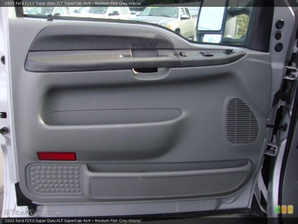 Medium Flint Grey Interior Door Panel for the 2003 Ford F250 Super Duty XLT SuperCab 4x4 #101528947