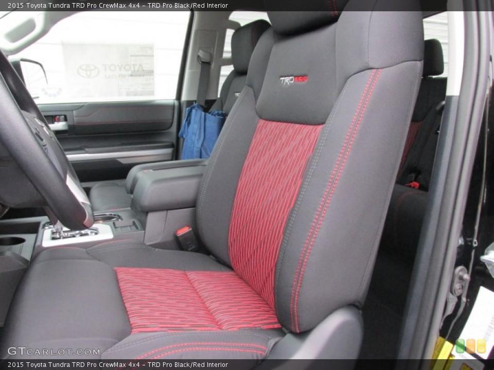 TRD Pro Black/Red 2015 Toyota Tundra Interiors