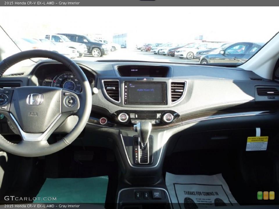 Gray Interior Dashboard for the 2015 Honda CR-V EX-L AWD #101896986