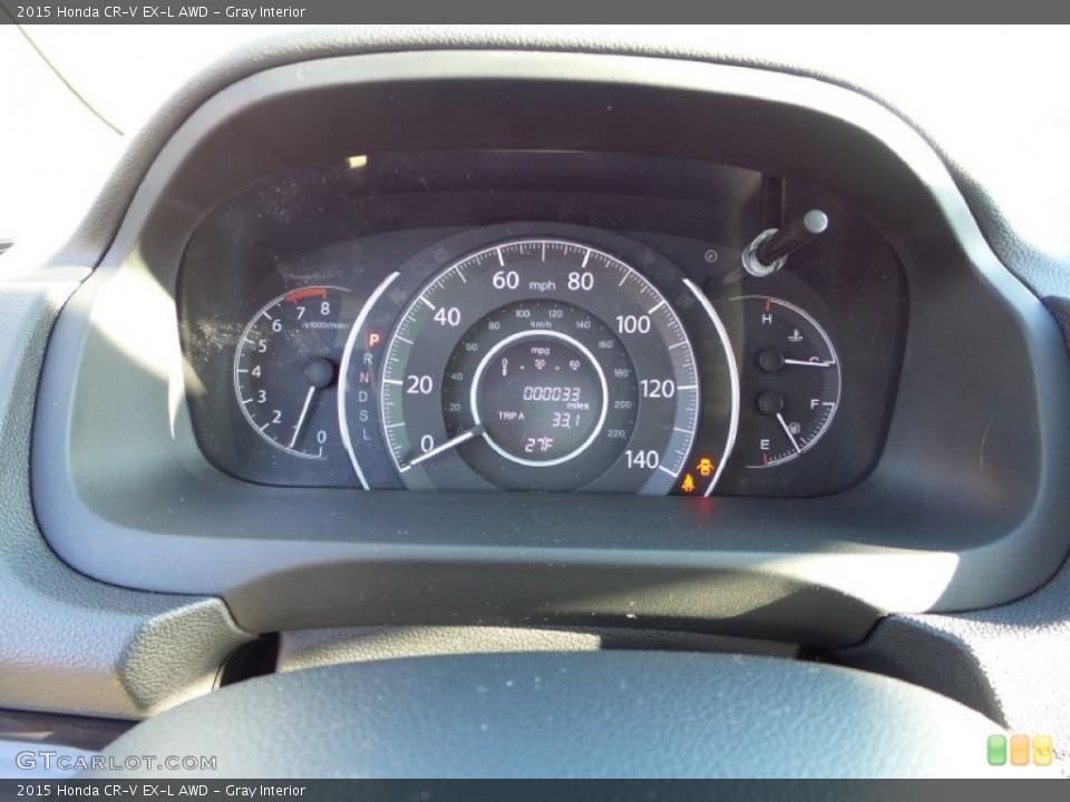 Gray Interior Gauges for the 2015 Honda CR-V EX-L AWD #101897034