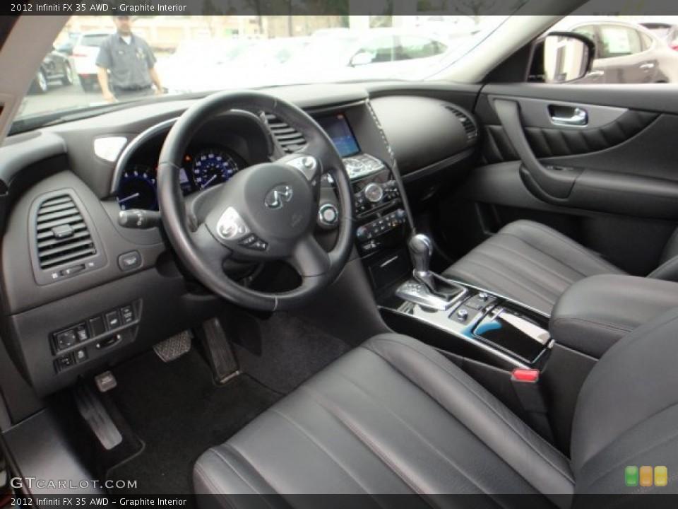 Graphite Interior Photo for the 2012 Infiniti FX 35 AWD #102102357
