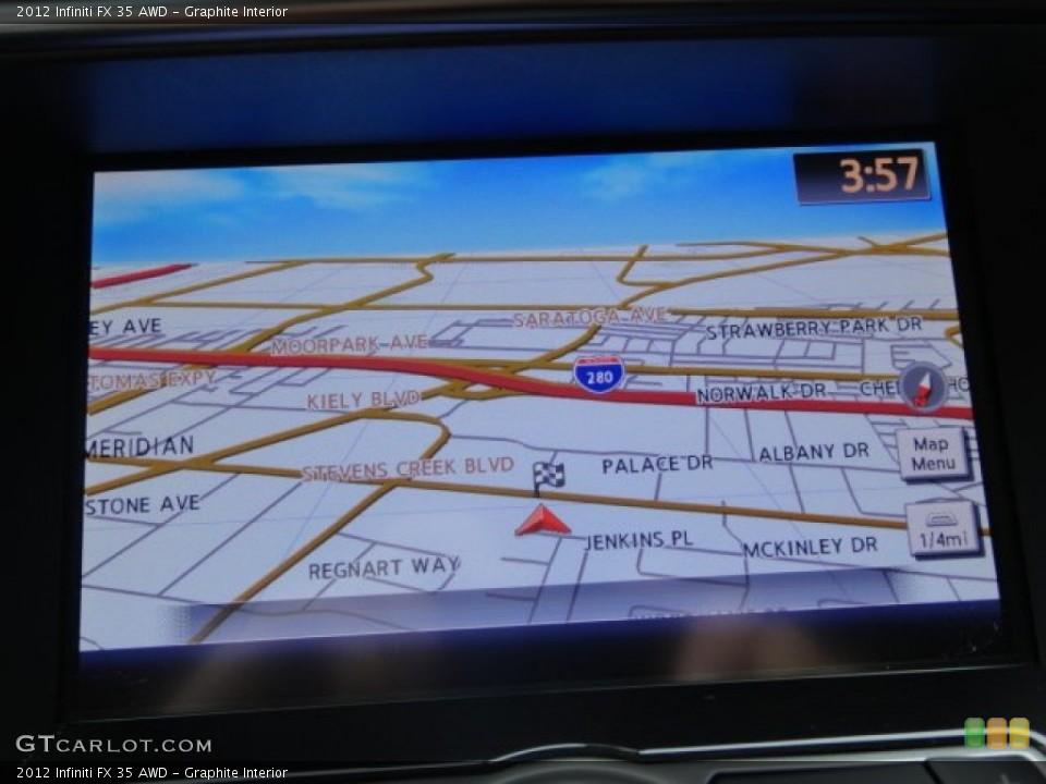 Graphite Interior Navigation for the 2012 Infiniti FX 35 AWD #102102447