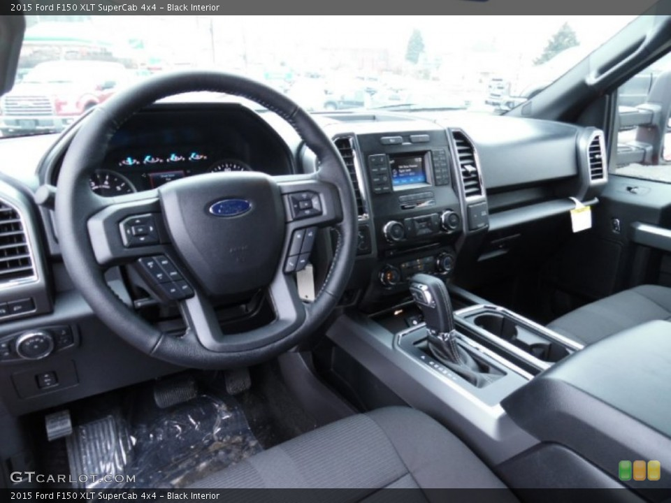 Black 2015 Ford F150 Interiors