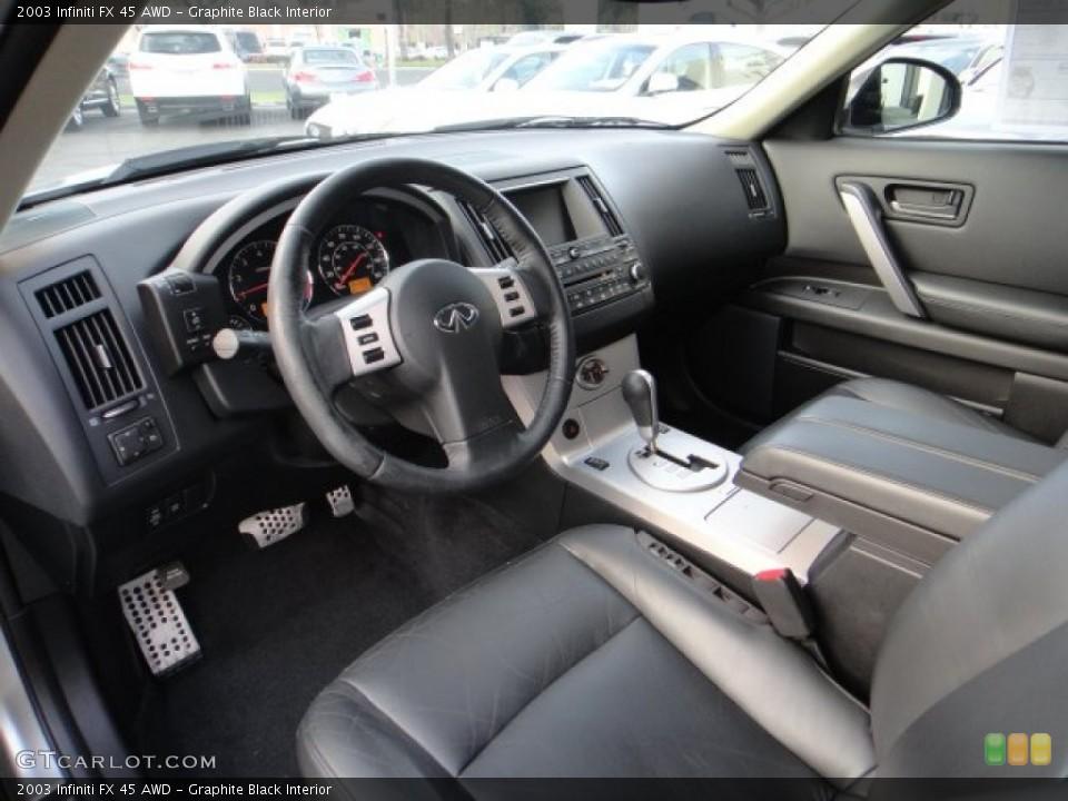 Graphite Black Interior Photo for the 2003 Infiniti FX 45 AWD #102173108