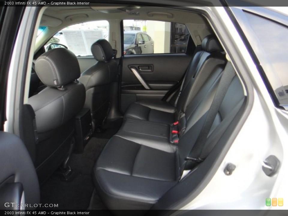 Graphite Black Interior Rear Seat for the 2003 Infiniti FX 45 AWD #102173264