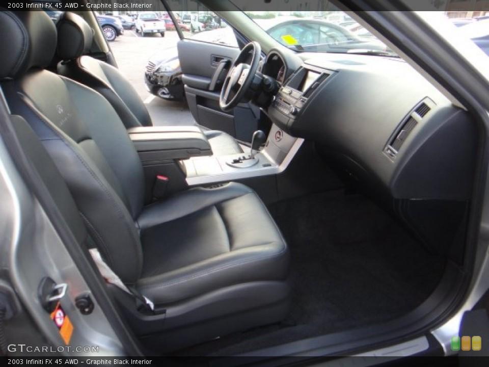 Graphite Black Interior Front Seat for the 2003 Infiniti FX 45 AWD #102173411