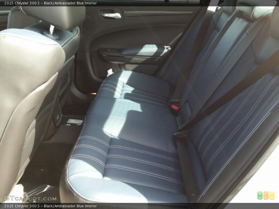Black/Ambassador Blue Interior Rear Seat for the 2015 Chrysler 300 S #102212252