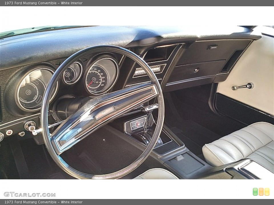 White 1973 Ford Mustang Interiors