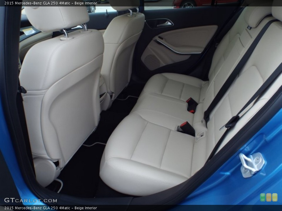 Beige 2015 Mercedes-Benz GLA Interiors