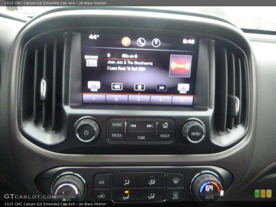 Jet Black Interior Controls for the 2015 GMC Canyon SLE Extended Cab 4x4 #102594467