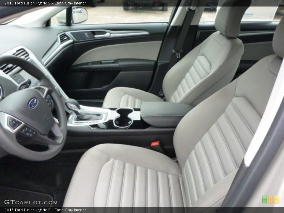 Earth Gray 2015 Ford Fusion Interiors