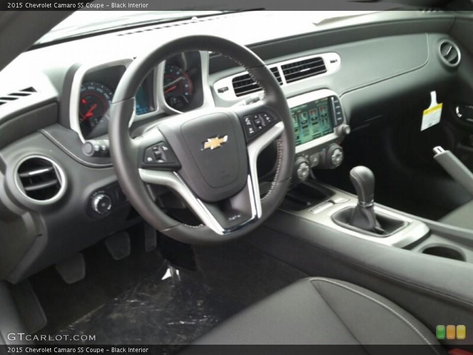 Black 2015 Chevrolet Camaro Interiors
