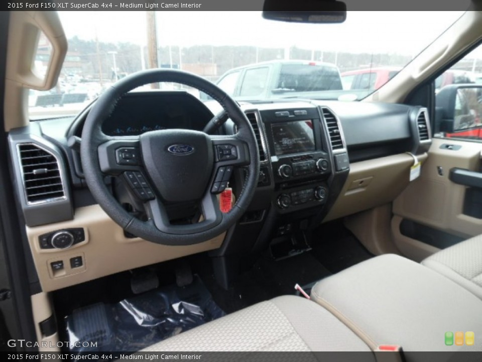 Medium Light Camel 2015 Ford F150 Interiors