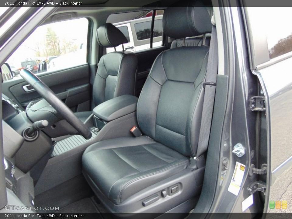 Black Interior Front Seat for the 2011 Honda Pilot EX-L 4WD #102952809